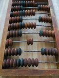 The old abacus, with the help of which produced all mathematical calculations in the middle of the last century royalty free stock photos