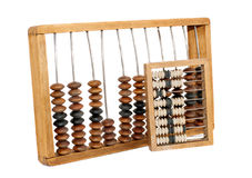 Old abacus isolated Stock Photos