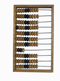 Old Abacus On White Stock Images
