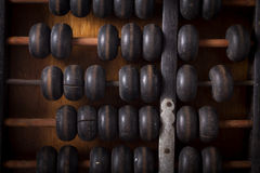 Old abacus,top view. Stock Photos