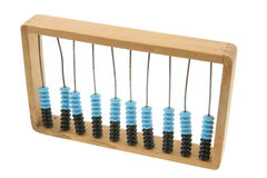 Old abacus on white #2 Royalty Free Stock Images