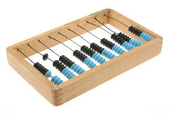 Old abacus on white Stock Photos
