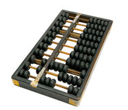 Old abacus on white background Stock Image