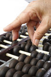 Old abacus on white background Stock Photos