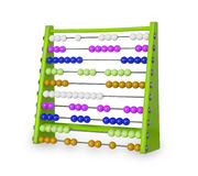 Old abacus on white Royalty Free Stock Photo
