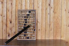 Old abacus wooden for the calculating. Tree, calculator Royalty Free Stock Photo