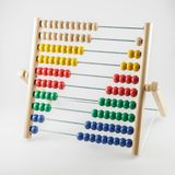 Old abakus. Mathematical calculations, business, learning and balance concept.  stock photo