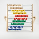Old abakus. Mathematical calculations, business, learning and balance concept.  stock photography