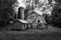 Old Abandon Barn In Franklin County, Virginia, USA Royalty Free Stock Photography