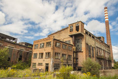 Abandon building of old paperworks - Kalety, Polan Stock Photography