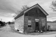 Old Abandon Country Store – Burkes Garden, Virginia, USA. Tazewell County, VA – March 20th: A black and white of an old abandon country store located in Stock Image
