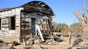 Old Abandon Home in the Mojave Desert stock footage