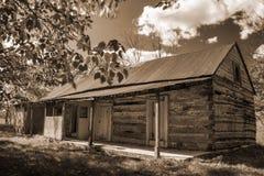 Old Abandon Log Cabin Stock Photography