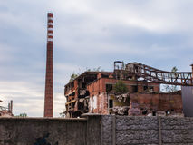 Old abandon paperworks in Kalety - Poland, Silesia province Stock Photography