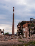 Old abandon paperworks in Kalety - Poland, Silesia province Royalty Free Stock Photos