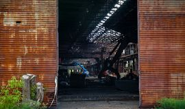 Abandoned Steelmill Doors Stock Photo