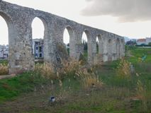 Old abandonec aquaduct in larnaka Royalty Free Stock Image