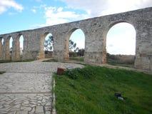 Old abandonec aquaduct in larnaka Royalty Free Stock Photos
