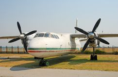 Old abandoned airplane AN-24 Stock Photography