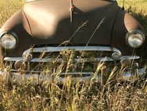 Old abandoned antique car royalty free stock image