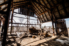 Old Abandoned Barn Royalty Free Stock Photos
