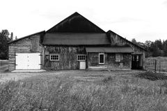 Old abandoned barn in Quebec Stock Photo
