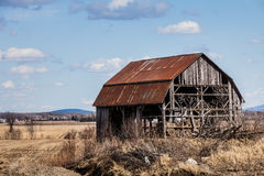 Old Abandoned Barn. Old Abandoned Rusty Old barn in the Middle of nowhere royalty free stock photos