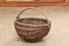 Old abandoned basket Royalty Free Stock Images