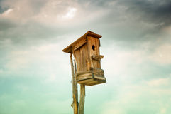 Old abandoned birdhouse Royalty Free Stock Photo