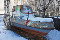 Old abandoned boat Royalty Free Stock Photos