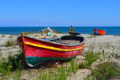 Old abandoned boat Stock Photography