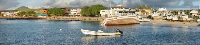 Old abandoned boats on Puerto Baquerizo Moreno Stock Images