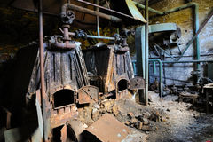 Old and abandoned boiler Stock Image