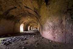 Old, abandoned brickyard (inside stove) in Poland Royalty Free Stock Image