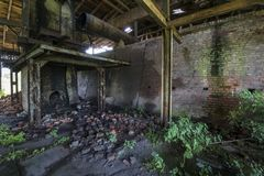 Old, abandoned brickyard in Poland, Pomerania area Royalty Free Stock Photography