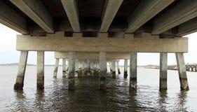 Old abandoned bridge in Florida royalty free stock photo