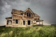 Old Abandoned Building. In Saskatchewan Canada rural royalty free stock image