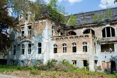Old abandoned building. Once luxurious building, now dilapidated and abandoned Royalty Free Stock Photo