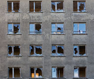 Old abandoned building with broken windows Royalty Free Stock Photo