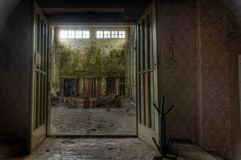 Old abandoned building in East Germany Royalty Free Stock Image