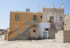 Old abandoned building in egyptian town Stock Image