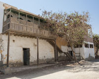 Old abandoned building in egyptian town Royalty Free Stock Images