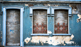 Old abandoned building facade Stock Image