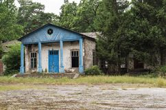 An old abandoned building. In the forest Stock Photography