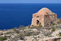 Old abandoned building on Gramvousa Island Royalty Free Stock Photography