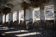 Old abandoned building from the inside Stock Image