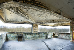 Old abandoned building interior, hdr processing. Royalty Free Stock Photo