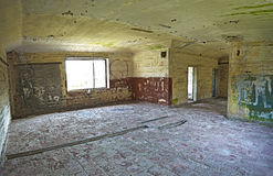 Old abandoned building interior, hdr processing. Stock Photo