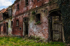 Old abandoned building. Old medieval ruined house Stock Photos