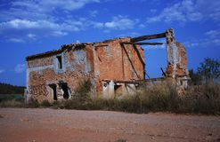 PARANORMAL RUINS 3. Old abandoned building with paranormal phenomenology royalty free stock photography
